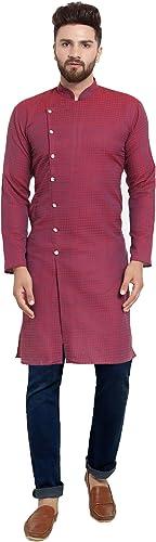 Men s Cotton Silk Straight Kurta