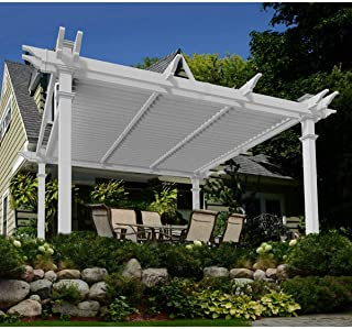 Brandenburg 12' x 12' Louvered Vinyl Pergola