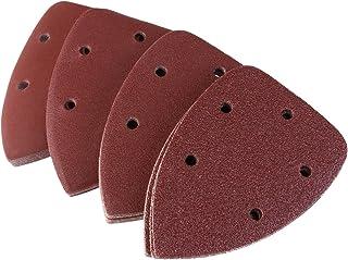 Pixnor 40pcs Mouse Detail Sander Sandpaper Sanding Paper Hook Loop Assorted 40 80 120 240 Grits
