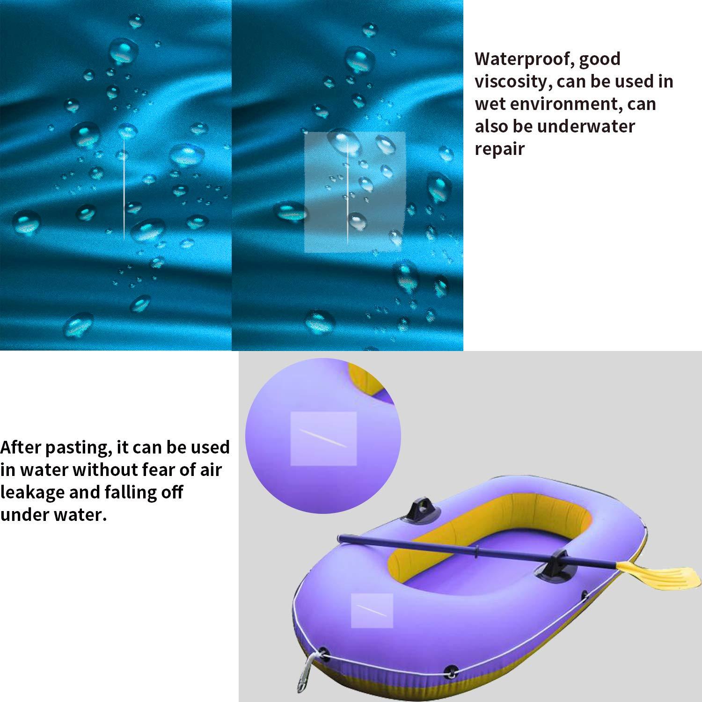 kayak Kit de reparaci/ón de parches de piscina de PVC de 9 piezas parches de piscina impermeables juego de pegamento para balsa inflable Kit de reparaci/ón de pinchazos para piscinas para inflables