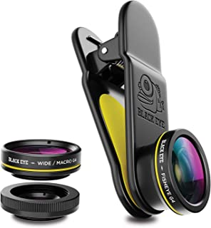 Phone Lenses by Black Eye    Clip-on Lens (3 Lenses) Compatible with iPhone, iPad, Samsung Galaxy, and All Camera Phone Models
