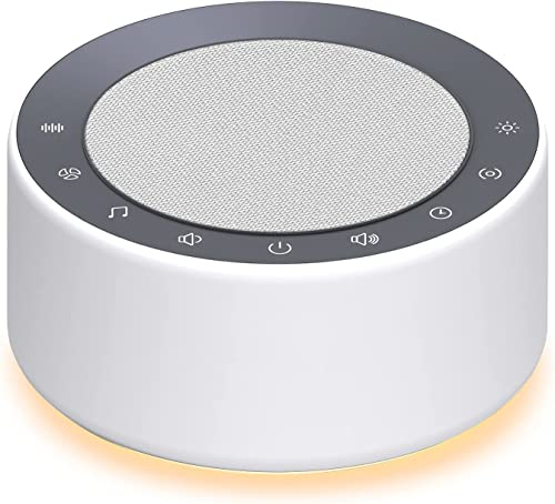 new arrival YTE White Noise Machine with 30 High Fidelity Soundtracks, 7 Colors Night Lights, Full Touch Cloth Grille and Buttons, new arrival Timer and Memory Features, Plug in, Sound wholesale Machine for Baby, Adults online