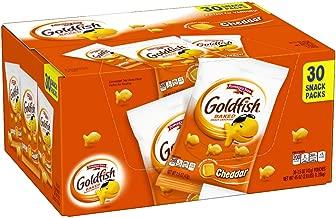 Pepperidge Farm Goldfish Cheddar Crackers, 45 oz. Multi-pack Box, 30-count 1.5 oz. Snack Packs