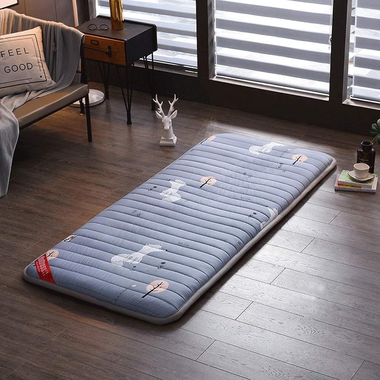 Student Dormitory Mattress Single Double Household Floor Mat Folding Folding Fatigue Cushion +A (color   2, Size   90x200cm)