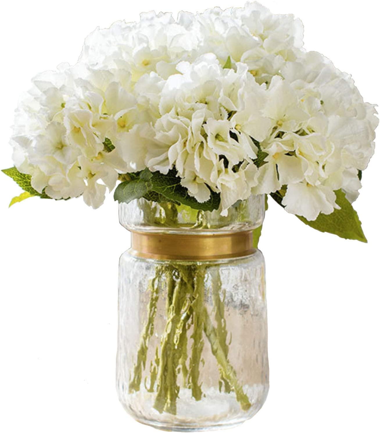 FagusHome Artificial Now free shipping Flowers 8 Special price Hydrangea Pcs Silk Bouque
