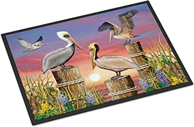 Caroline's Treasures Pelicans Door Mat doormats, Multicolor
