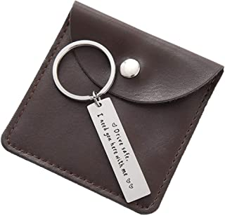 Dad Husband Boyfriend Keychain Gift - Drive Safe Cross Key Chain Gifts for Men