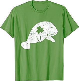 Manatees St Patricks Day Shirt Lover Save Irish Floaty Gift