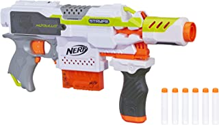 NERF Modulus Motorized Toy Blaster with Drop Grip, Barrel Extension, 6-Dart Clip, 6..