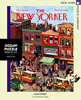 New York Puzzle Company - New Yorker Main Street - 1000 Piece Jigsaw Puzzle