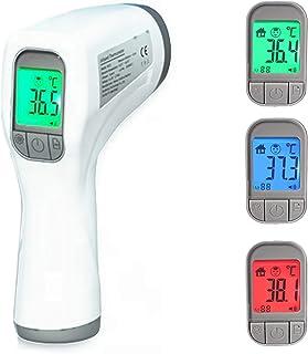 Termometro infrarrojos digital sin contacto. Pistola para frente para bebes y adultos. Medición de temperatura rápida y pr...