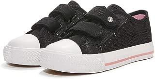 Weestep Toddler/Little Kid Glitter Double Strap Pink Sneaker