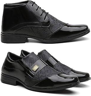 Kit Sapato Social Cano Alto + Sapato Masculino Conforto