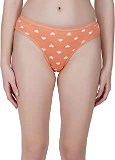 Decot Paradise Women's Heart Print Hipster Underwear Panty