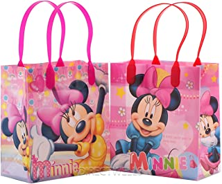 Disney Minnie Mouse Reusable Premium Party Favor Goodie Small Gift Bags 12 (12 Bags)