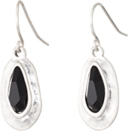 The Sak - Small Stone Drop Earrings