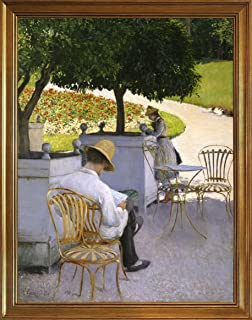 Berkin Arts Framed Gustave Caillebotte Giclee Canvas Print Paintings Poster Reproduction(The Orange Trees)