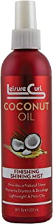 Coconut Oil Finishing Shining Mist, 8 oz for Natural Shine | Prevents Dryness & Breakage, Lightweight & Non-Oily Styling