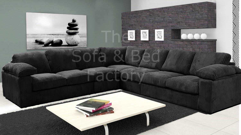 Ruxley Large Fabric 7 Seater Corner Sofa - 3 Corner 3 - Black (3 Corner 3):  Amazon.co.uk: Kitchen & Home