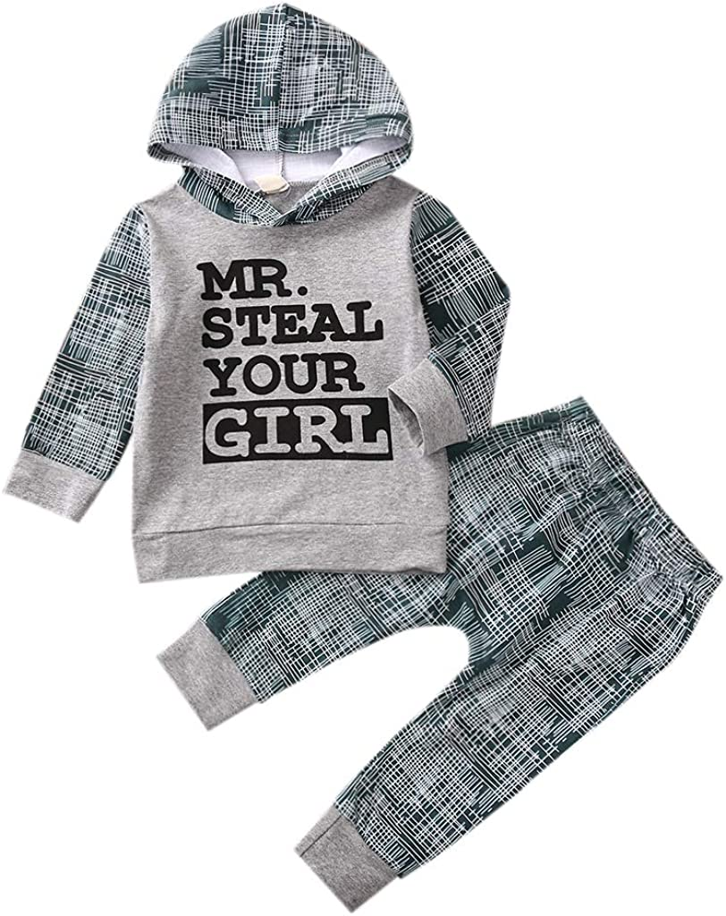Los Angeles Mall Toddler Infant Baby Boy NEW before selling Clothes Hoodie Print Long Letter Sleeve