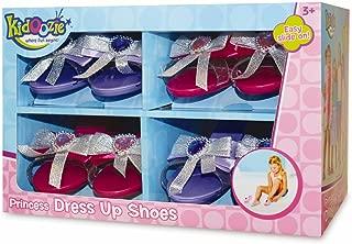 Kidoozie Princess Dress Up Shoe Set - 4 Pairs of Slip On Pretend Play Heels