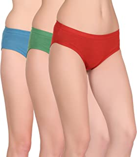Care in Womens Cotton Inner Elasticated Panty -Pack of 3
