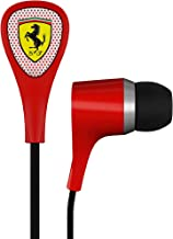 Ferrari AAV-2LFE010R Scuderia S100i Earphones with Three Button Remote - Red (Discontinued by Manufacturer)