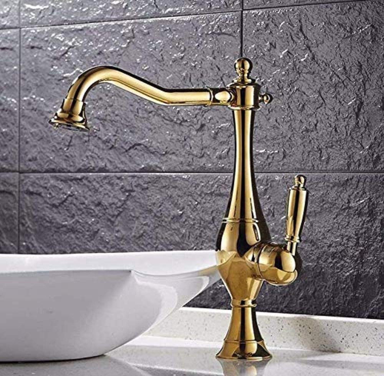Retro Wasserhahn Küchenarmatur Küchenarmatur Verbreitet Waschbecken Wasserhahn Mit Auslauf Rotieren VerGoldet