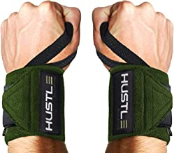 Hustle Athletics Wrist Wraps Weightlifting - Best Support for Gym & Crossfit - Brace Your Wrists to Push Heavier, Avoid In...