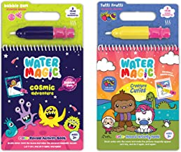 Scentco Water Magic - Scented Reusable Water Reveal Activity Books - No Mess, All Fun (Cosmic Adventure and Creatures)