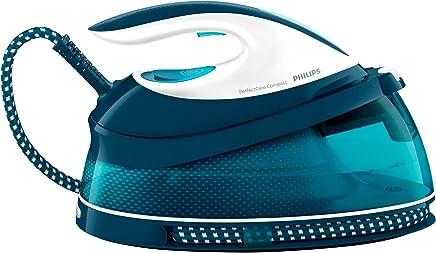 Philips Plancha con generador GC7831/20 Centro de planchado PerfectCare Compact, autonomía ilimitada, OptimalTemp, 5.8 bares, golpe vapor 330 g, 1.5 l, 200 W, 1.5 litros, Compuesto, Azul