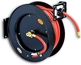 """REELWORKS Air-Hose-Reel Retractable 3/8"""" x 50' Max 300 Spring Driven Steel.."""