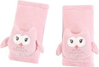 Hudson Baby Cushioned Car Seat and Stroller Strap Covers, Pink Owl, One Size