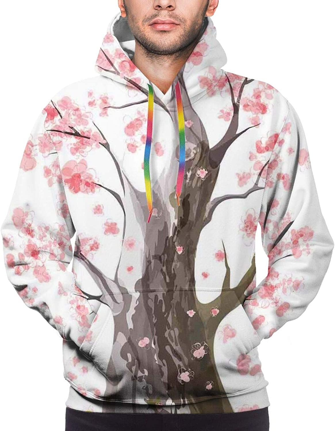 Men's Hoodies Sweatshirts,Landscape with Road and Snow Capped Mountains Southern Alps New Zealand Picture