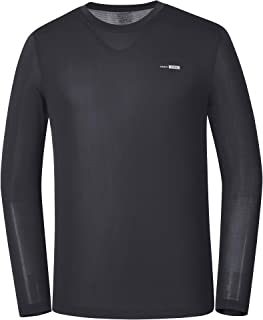 PARAGONA Men's Long Sleeve Cool Dry Compression T-Shirt Baselayer