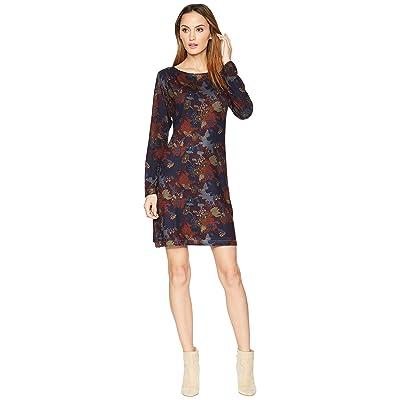 Nally & Millie Burgundy Floral Print Dress (Multi) Women