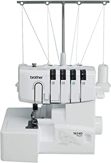 Brother R1634D 3 or 4 Thread Serger with Differential Feed, White (Renewed)