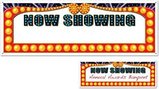 Now Showing Blank Sign Banner Party Accessory (1 count) (1/Pkg)