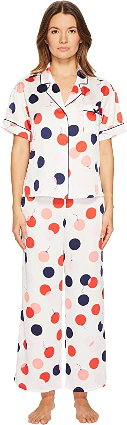 Kate Spade New York - Balloon Print Satin Pajama Set
