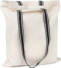 Designer-Einkaufstasche mit stylischen Henkeln | Fischgrät-Design, Baumwolltasche, Jutebeutel, Stofftasche zum Bedrucken 1 Stück