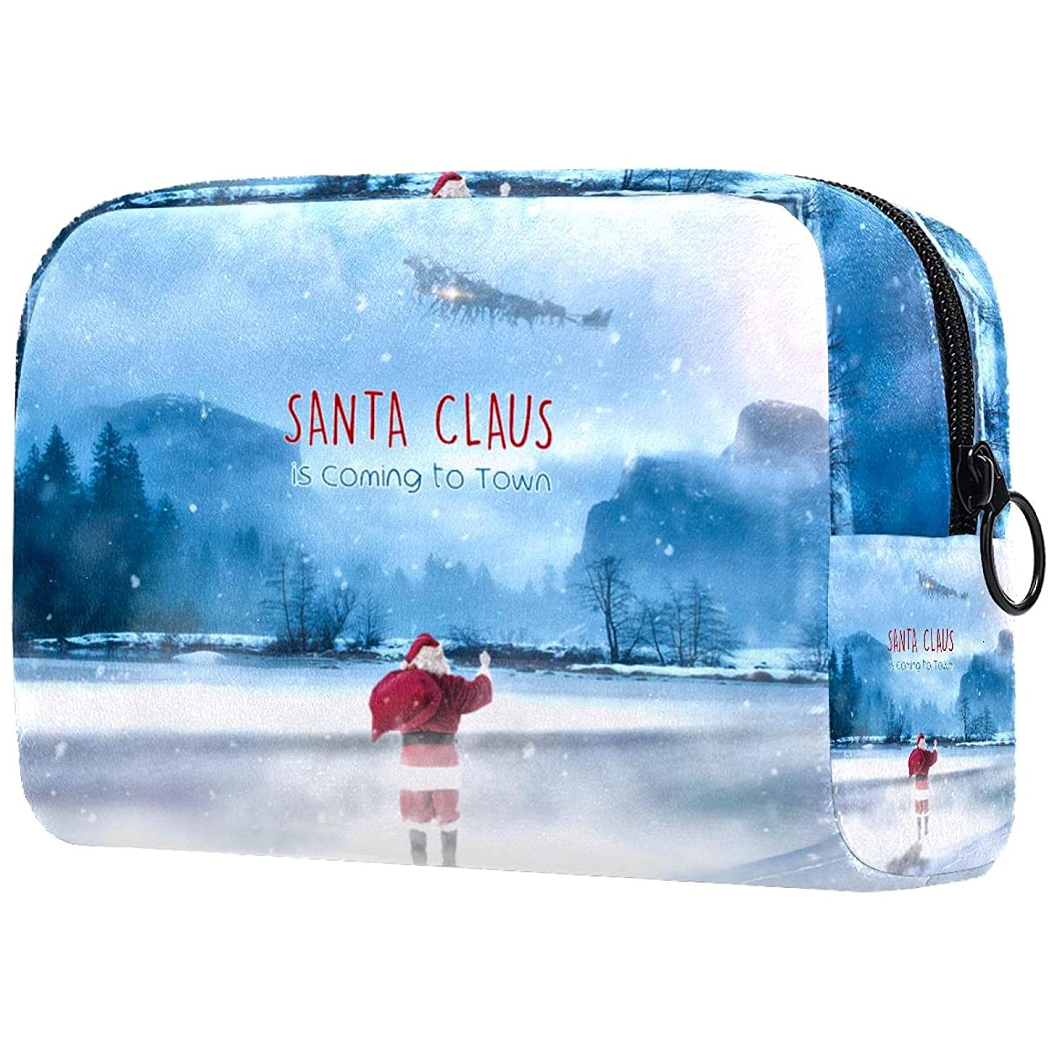 Santa Claus Ranking TOP8 Makeup Bag Cosmetic Portabl Pouch Zipper with Black 1 year warranty