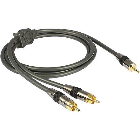 Goldkabel Profi Audiokabel 3 5 Mm Klinke Auf Cinch 1 5 Elektronik
