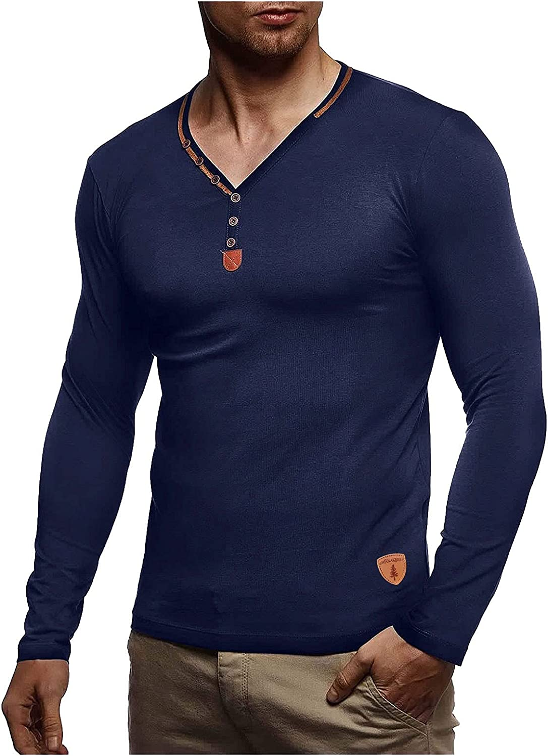 Divinal Shirt for OFFicial Men Long Sleeve Multi Autumn Casual and gift Winter