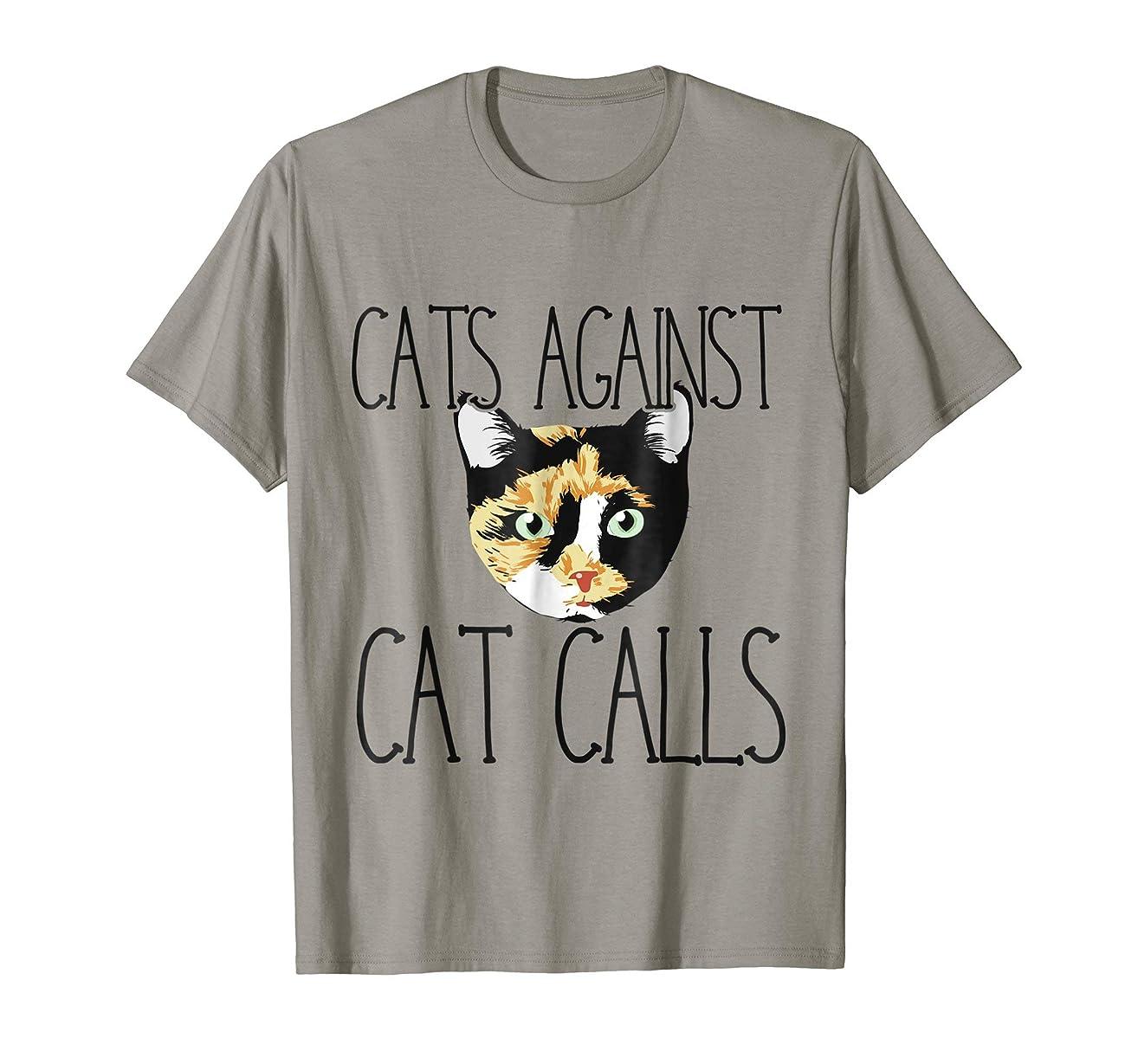 Cats against catcalls shirt feminist t-shirt calico cat