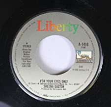 Sheena Easton 45 RPM FOR YOUR EYES ONLY / FOR YOUR EYES ONLY