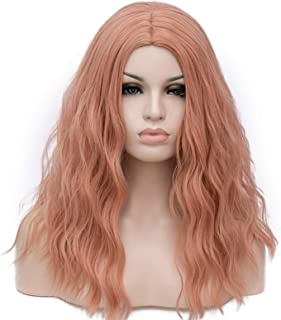 Hairpieces Cosplay Wigs for Women Red Green Orange Gray Long Curly Synthetic Wig Heat-resistant Rose Net Hair Extensions (...