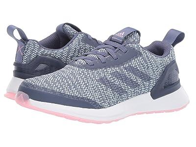 adidas Kids RapidaRun KNIT EL (Little Kid) (Raw Indigo/Ash Grey/True Pink) Girls Shoes