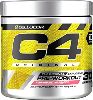C4 Original Pre Workout Powder Strawberry Margarita | Sugar Free Preworkout Energy Supplement for Men & Women | 150mg Caff...