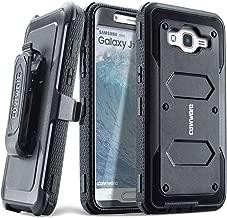 COVRWARE Galaxy J7 (2015)/ J700 [Aegis Series] Built-in [Screen Protector] Heavy Duty Full-Body Rugged Holster Armor Case[Belt Clip][Kickstand](T-Mobile/MetroPCS/Boost Mobile/Virgin), Black