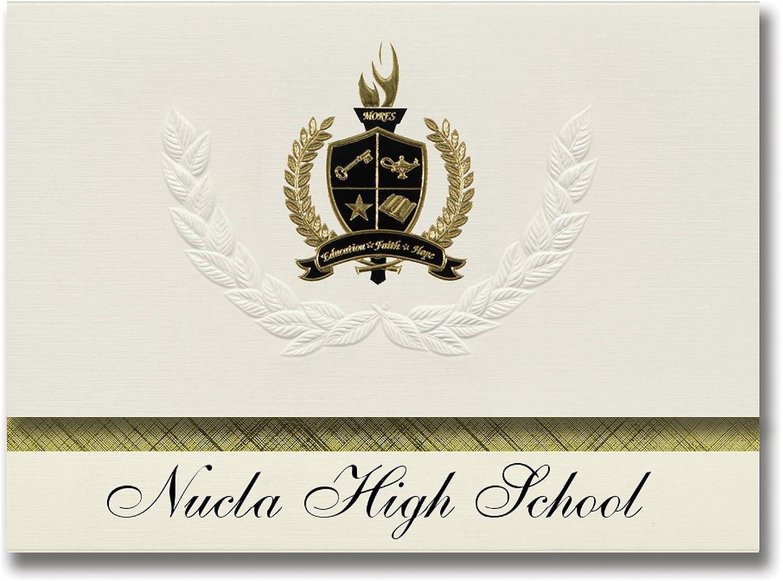 Signature Signature Signature Ankündigungen nucla High School (nucla, CO) Graduation Ankündigungen, 25 Stück mit Gold & Schwarz Metallic Folie Dichtung, 15,9 x 29,1 cm creme (Pac _ basicpres _ HS25 _ 105509 _ 206041) B07963K841 | Up-to-date Styling  604da3